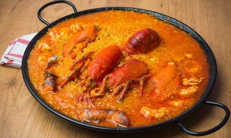 Menú de arroz con bogavante para 2 o 4 con entrante, postre y bebida o botella de vino desde 24,95 € en Berlangas