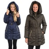 Kensie Women's Down or Faux-Down Coat with Exaggerated Hood (XS, M, L)