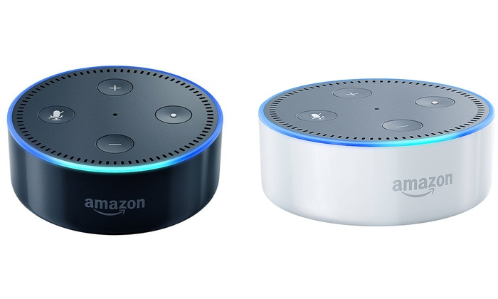 amazon echo dot portable bluetooth speaker groupon. Black Bedroom Furniture Sets. Home Design Ideas