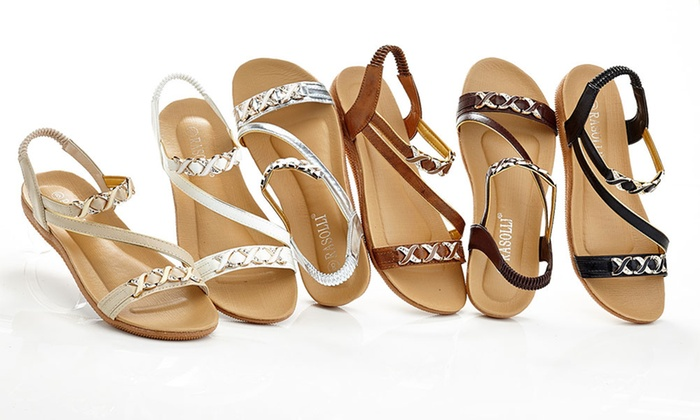 Rasolli Women's Strappy Flat Sandals