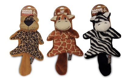 Bow-Wow Safari Friends Squeaky Crinkle Dog Toys (3-Pack)