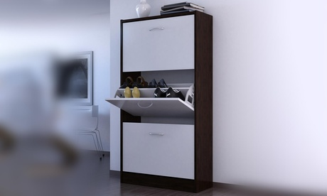 Oxford Shoe Cabinet with Two or Three Tiers in a Choice of Colour