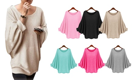 Lightweight Batwing Knit Top for £8.99