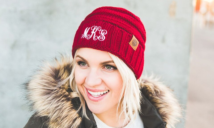 68bc3e879c008 Up to 84% Off Personalized Embroidered Beanies from Qualtry