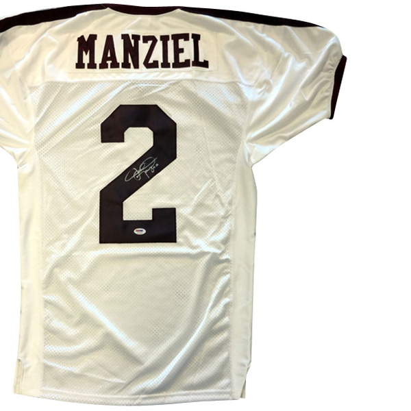 uk availability e5110 2c6a9 NCAA Memorabilia: Johnny Manziel Texas A&M White Custom Jersey