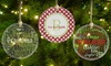 Up to 41% Off One Personalized Round Glass Ornament
