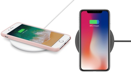 Apachie 10W Wireless Qi Charger for iPhone 8, 8+, X and Samsung Phones