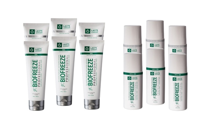 Biofreeze Professional Strength Pain-Relieving Paraben-Free Roll-On or Tube Gel (3 or 4 Oz.) (3-Pack)
