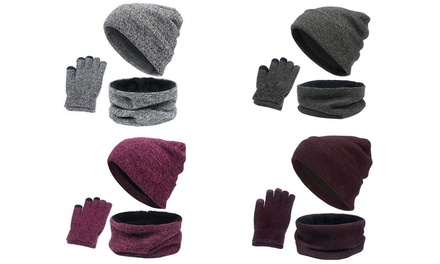 Set cappello, guanti e sciarpa