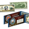 U.S. Military Armed Forces Genuine Legal Tender Colorized $2 Bill
