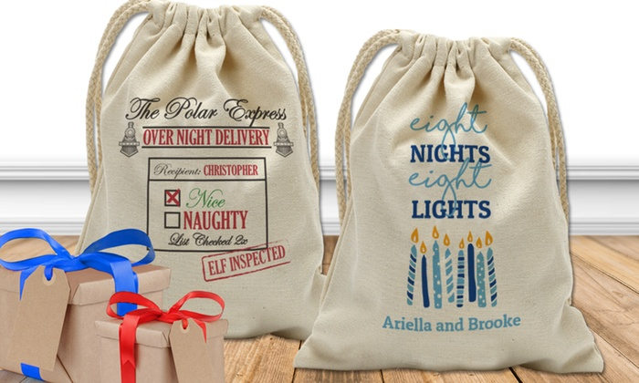 up to 75 off on personalized santa sack groupon goods