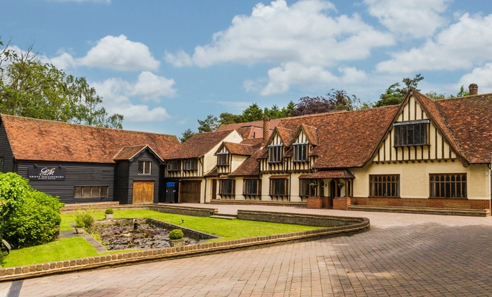 Hertfordshire: 1 or 2 Nights for Two with Dinner and Cream Tea at 4* Great Hallingbury Manor