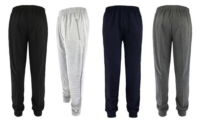 Men's French-Terry Joggers with Seamed-Knee Design