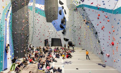 image for Two-Hour Basic Skills Rock Climbing Class at Sportrock Climbing Centers (39% Off)