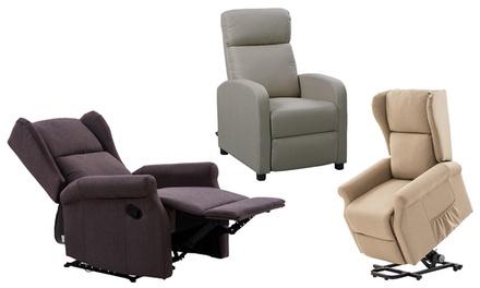 Poltrona reclinabile o alzapersona disponibile in vari modelli e fantasie