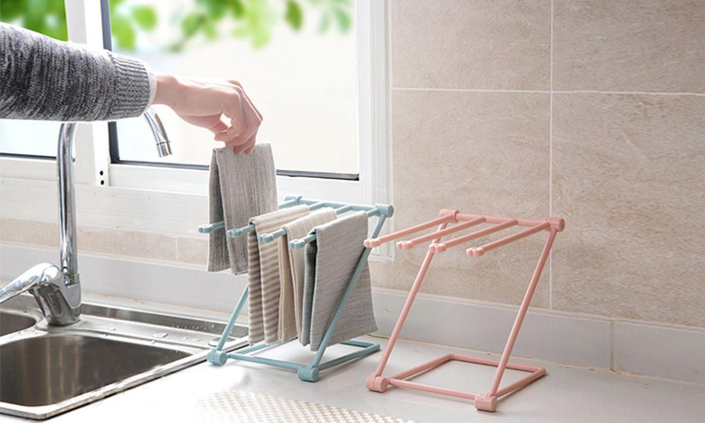 One or Two Mini Towel Hanging Racks