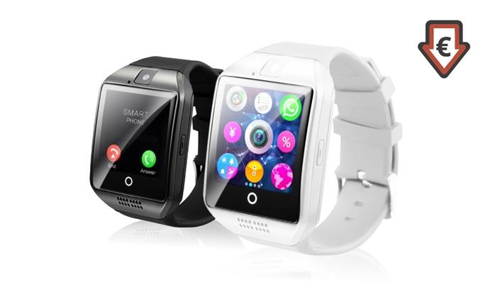 Q18 Smartwatch mit High-Capture-Display und Smartcam in Schwarz oder Weiß inkl. Versand