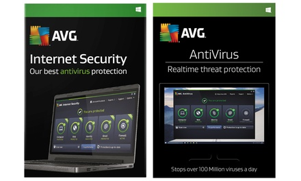 Licences AVG Anti virus et Internet Security 2018 de 2 ans pour 3 PC