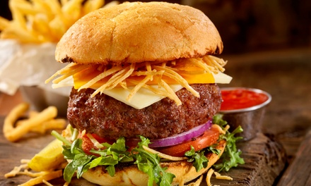 Choice of Burger with a Glass of Wine of Beer for Up to Four at Liberte (56% Off)