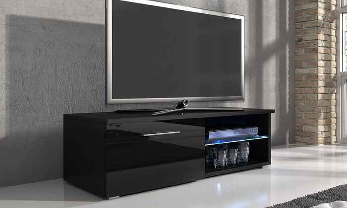 tv meubel met ledverlichting groupon. Black Bedroom Furniture Sets. Home Design Ideas