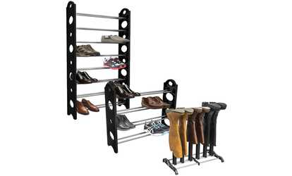 Groupon Stackable And Detachable Shoe Or Boot Racks