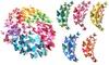 12er- oder 60er-Set Wandaufkleber 3D-Schmetterlinge