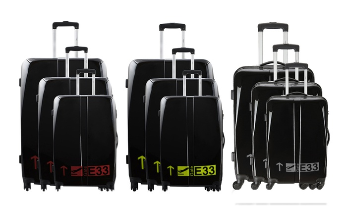 Gate Three-Piece Polycarbonate Suitcase Set for £99.95 With Free Delivery (82% Off)