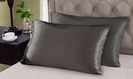 $39 for Two 100% Mulberry Silk Pillowcases (Don't Pay $229)