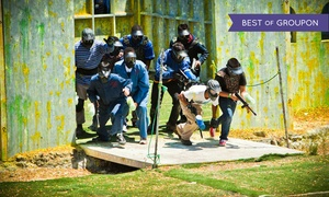 Paintball International: All-Day Paintball Package for 4, 6, or 12 with Equipment Rental from Paintball International (85% Off)