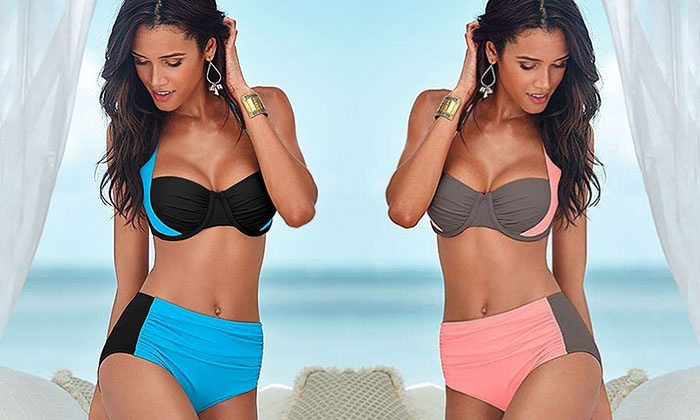 Halter Push-Up High-Waisted or Low-Rise Bikini for £10.99