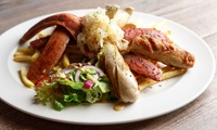 Choice of German Sharing Platter with a Pint of Beer for Two or Four at Steingarten Bar and Restaurant (Up to 51% Off)