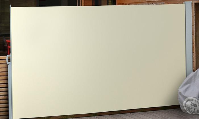Groupon Goods Global GmbH: Seitenmarkise mit Aluminium-Rollhalterungen u. Eisen-Standfuß in der Farbe und Größe nach Wahl