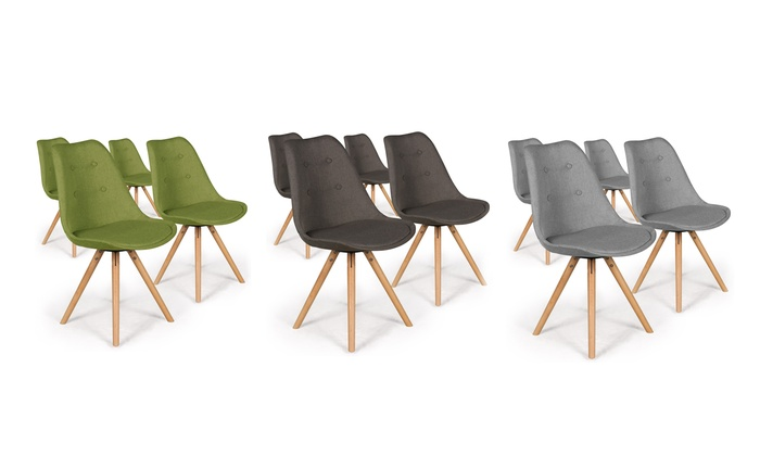 chaise scandinave goya lot de 2