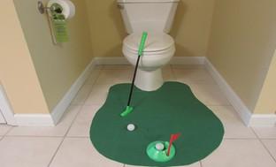 Evelots Novelty Bathroom Golf Potty Putter Set (6-Piece)