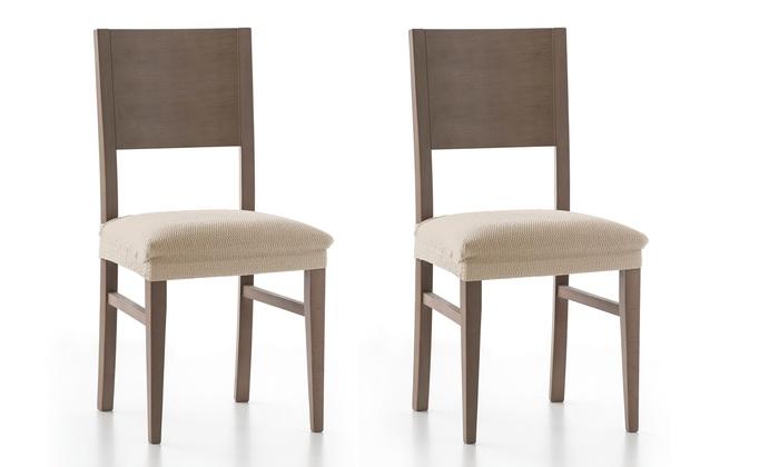 Pack de 2 fundas para sillas groupon - Fundas elasticas para sillas ...