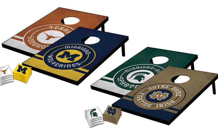 NCAA Tailgate Toss Set with Matching Bags