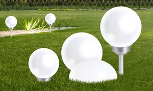 Boules 8 LED solaires blanches