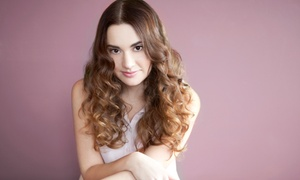 Loran B Salon: Haircut with Optional All Over Color or Partial Highlights at Loran B Salon (Up to 56% Off)
