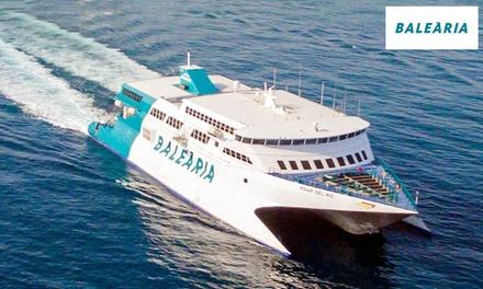 Cupón dto. 40% para ferry desde Valencia y Barcelona a Ibiza y opción a coche y camarote desde 2,99 € con Balearia