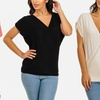 Women's Short Sleeve Overlapping Top