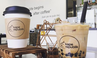 image for Four Vouchers: Each Good for $5 Worth of Filipino-American Pastries and Drink at Kape Republik ( 40% Off)