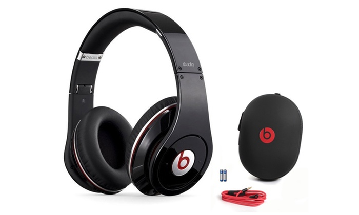 Beats By Dr Dre Studio Noise Canceling Wired Headphones Refurbished Groupon