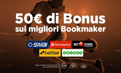 immagine per Superscommesse.it: 50 € di bonus sui migliori Bookmaker per Serie A, Champions ed Europa League