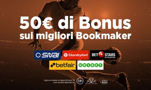 Superscommesse - Bonus scommesse sportive: Superscommesse.it: 50 € di bonus sui migliori Bookmaker per Serie A, Champions ed Europa League