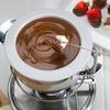 Frühstück mit Schokoladenfondue