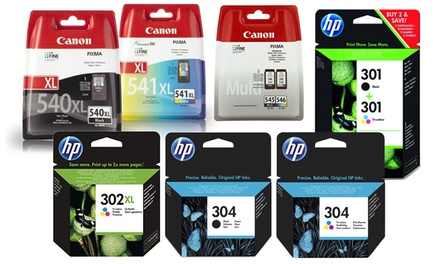 HP or Canon Printer Ink Cartridges