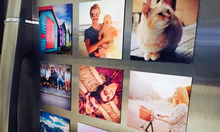Personalised Square Photo Magnets: 10 ($10), 20 ($19) or 30 ($28) (Don't Pay up to $59.85)