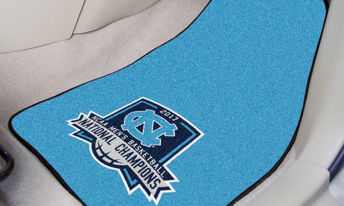 NCAA 2017 Basketball National Champs Carpeted Car Mat 2 piece Set: UNC