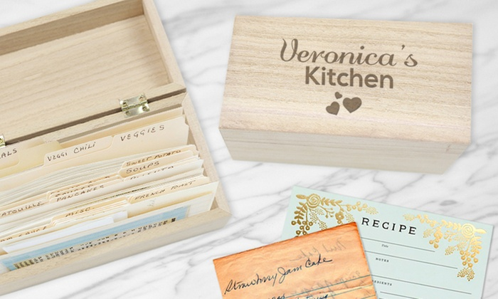 Personalized Recipe Box From Monogram Online Groupon