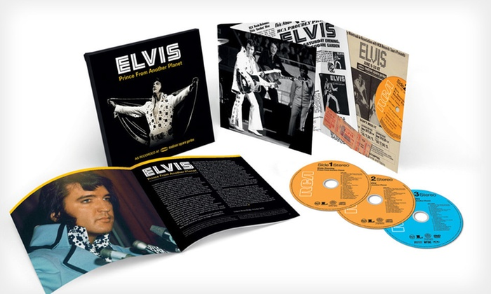 """Elvis Presley Deluxe Box Set: $24 for an Elvis Presley """"Prince From Another Planet"""" Box Set ($34.98 List Price). Free Shipping and Free Returns."""